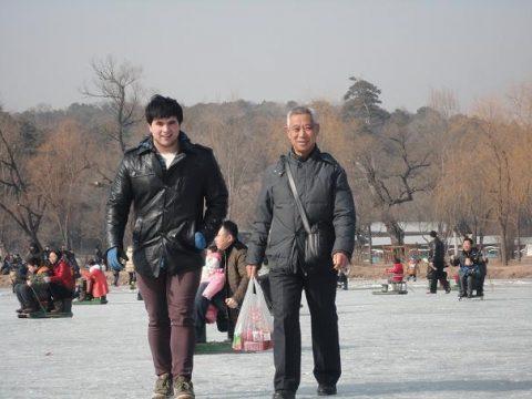 Luke during his gap-year in Chengde, China