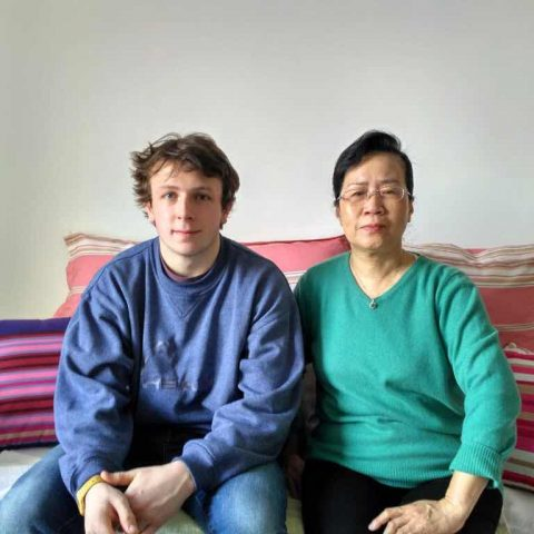 William with homestay Mom Ms. Su - Beijing