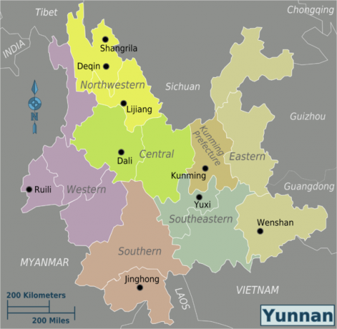 Yunnan Province - The Map