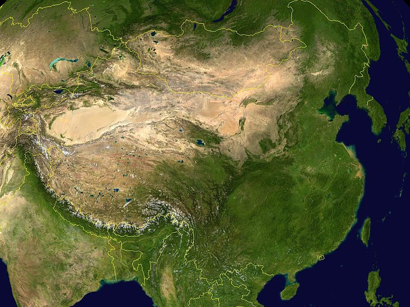 Satellite Image of China