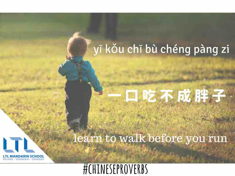 Chinese Proverb - Learn to walk before you run