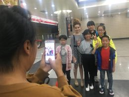 Tereza Enjoying taking Pictures With Chinese People