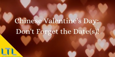 Chinese Valentine Day: Don't forget the date(s!)