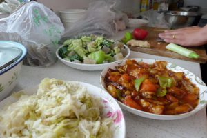 Cooking with homestay