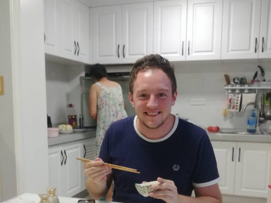 Home-cooked dinner in Chengde