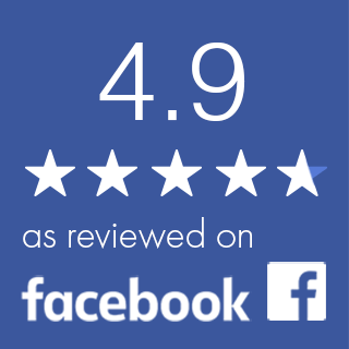 Facebook 4.9 out of 5 star rating illustration