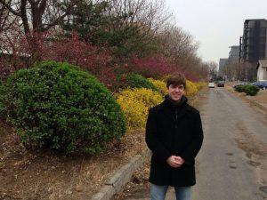 Fred interning in Beijing