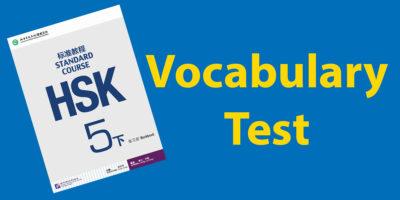 HSK 5 Vocabulary Test