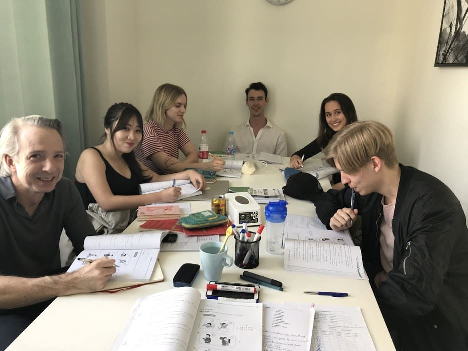 Group class with six students at LTL Shanghai
