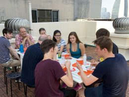 Rooftop lunch at LTL Beijing