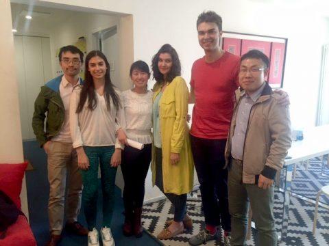 Teacher Sofia and Teacher Alwin with their students