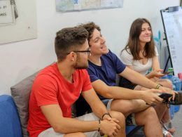 Students in Common room