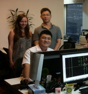 Lisa with her colleagues