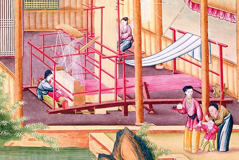 Tissage de la soie en Chine
