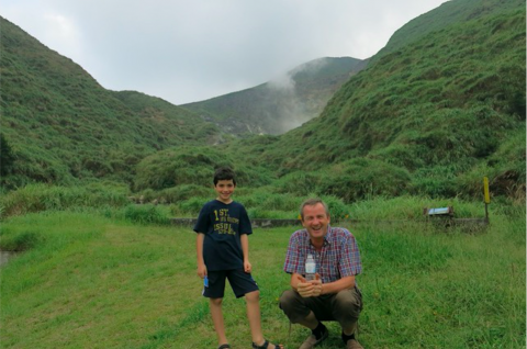 Peter sr and Peter jr hiking the hills in Chengde