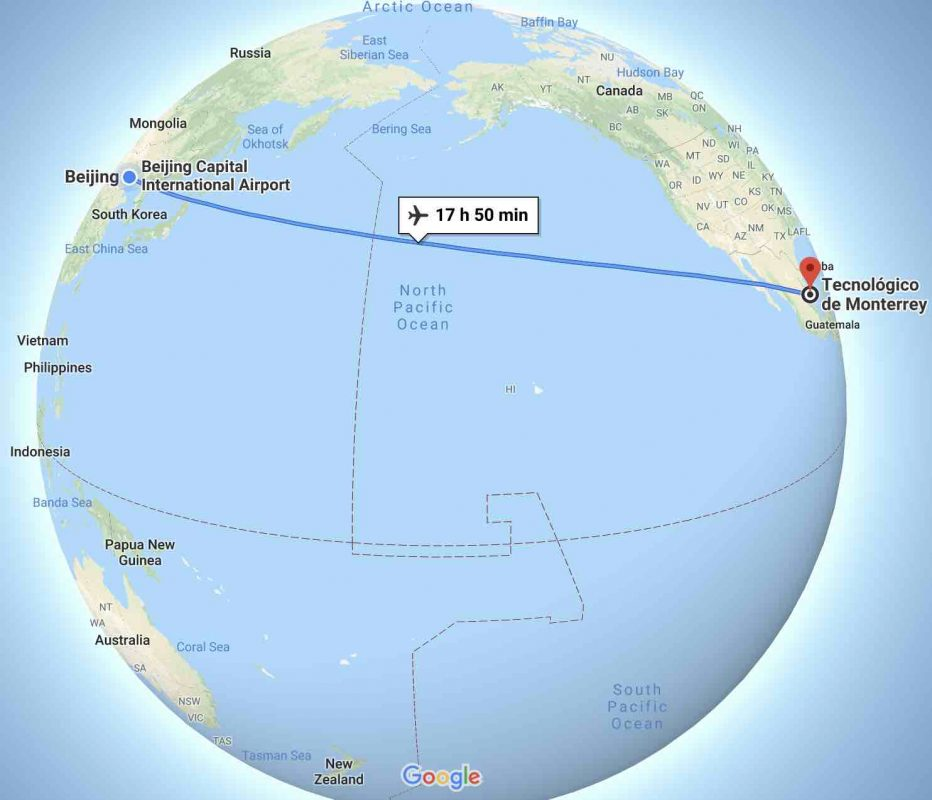 Mexico - China : Not a short journey!
