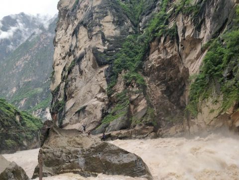 Tiger Leaping Gorge is created by a powerful river