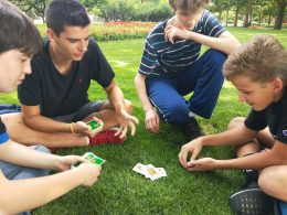 Playing Cards in the Park