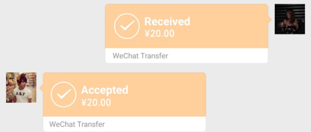 WhatsApp vs WeChat: Money transfer