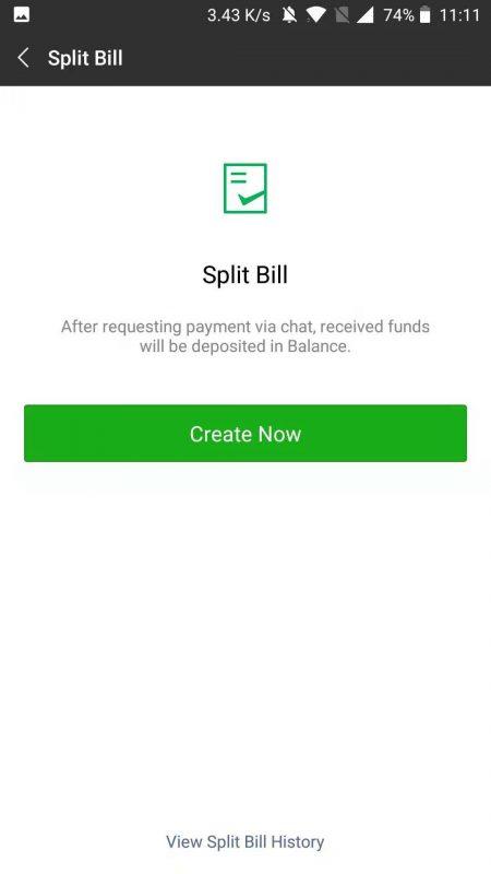 Split that Bill with WeChat