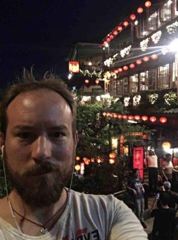Aidan exploring Taipei