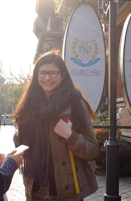 Anthea exploring Shanghai