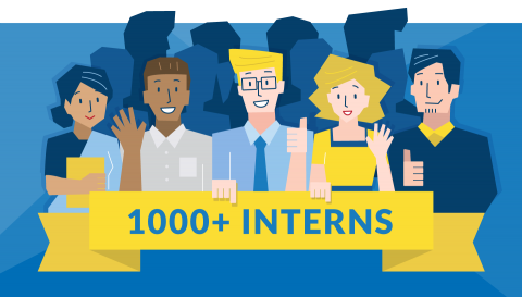Illustration, LTL has hosted over 1000 interns so far