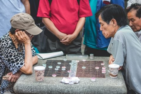Chinese Board Games in the street is NOT a rare sighting!