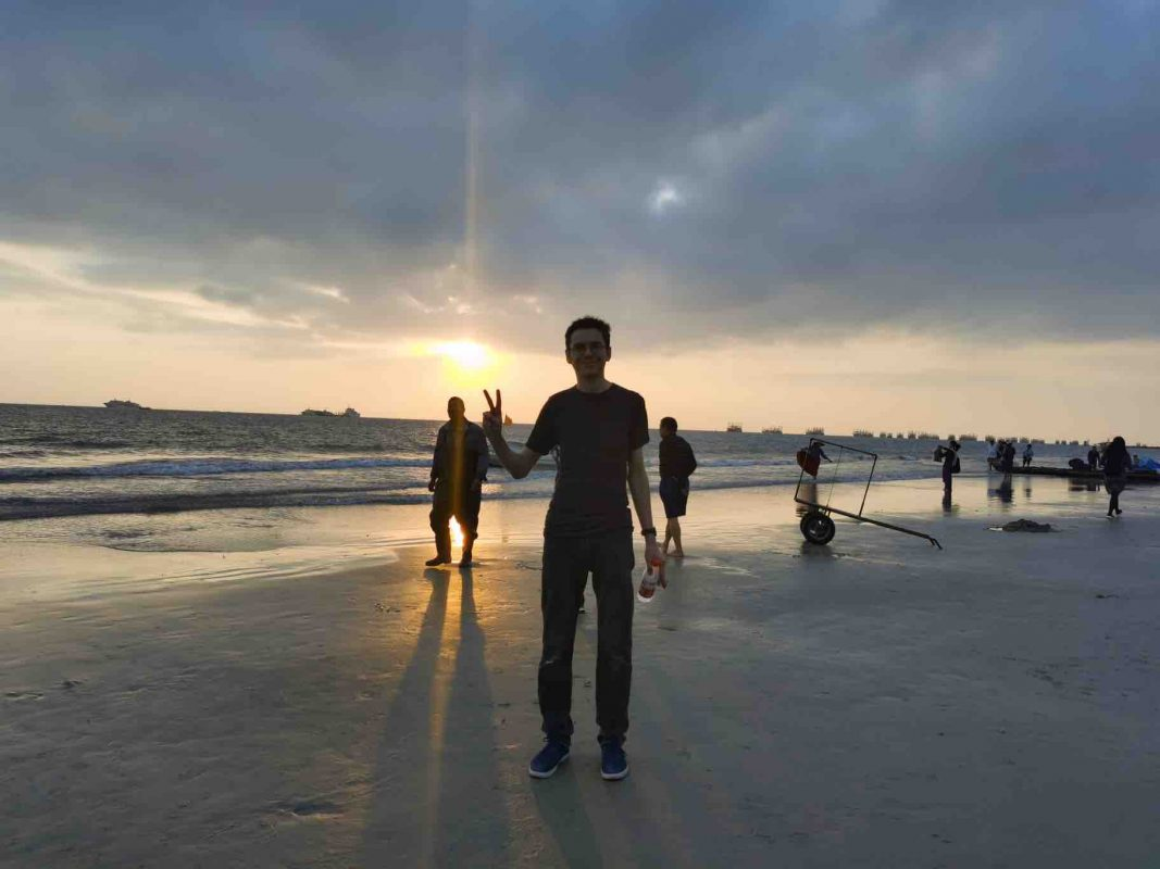 Tom at Beihai Beach