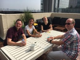 Monday morning on the Rooftop in Beijing