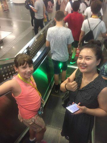 Taking the Metro in Beijing