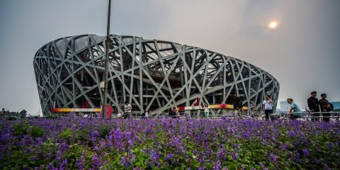 The Birds Nest Stadium from the 2008 Beijing Olympics