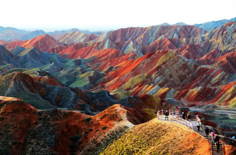 Best Places to Visit in China: Rainbow Mountains in Zhangye