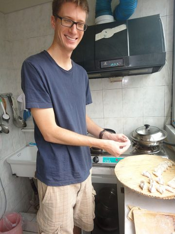 Making Dumplings (饺子) at the Homestay household