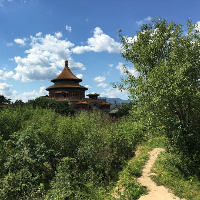 Pagoda in Chengde in the sun