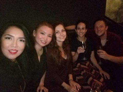 Alina, staff and friends winding down at the weekend