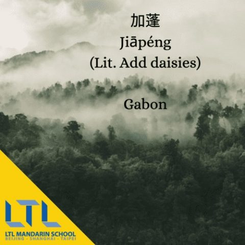 country names in Chinese gabon