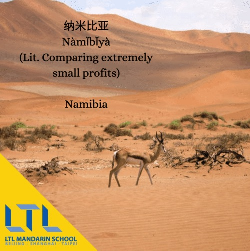 mandarin country names namibia