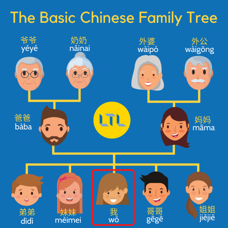 Family Tree in Chinese