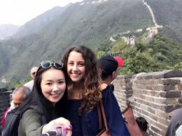Marie and Jasmine selfie on the Great Wall