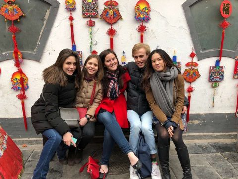 Learning Chinese as a Teenager - Olympia with her sister Fabiola, and other students exploring Beijing