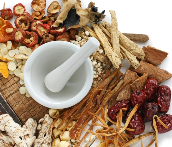 TCM uses treatments such herbal medicine, acupuncture to restore the body back to balance