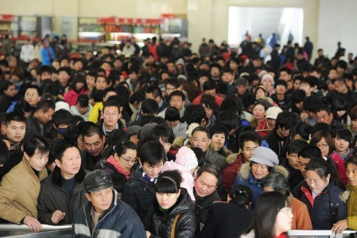 Chinese Culture Shock - Small space, big crowds
