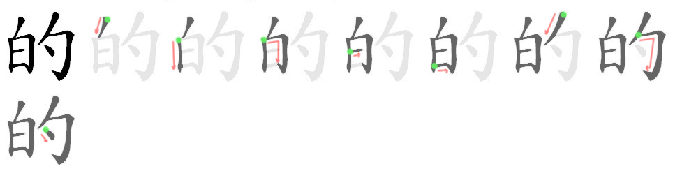 的 - The most used Chinese character of all