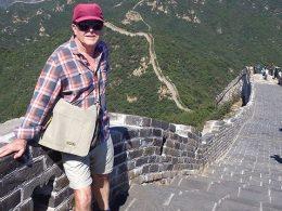 Taking a break on the Great Wall