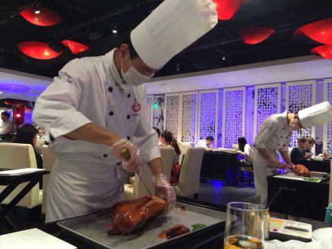 Beijing Duck prepared in front of your very eyes