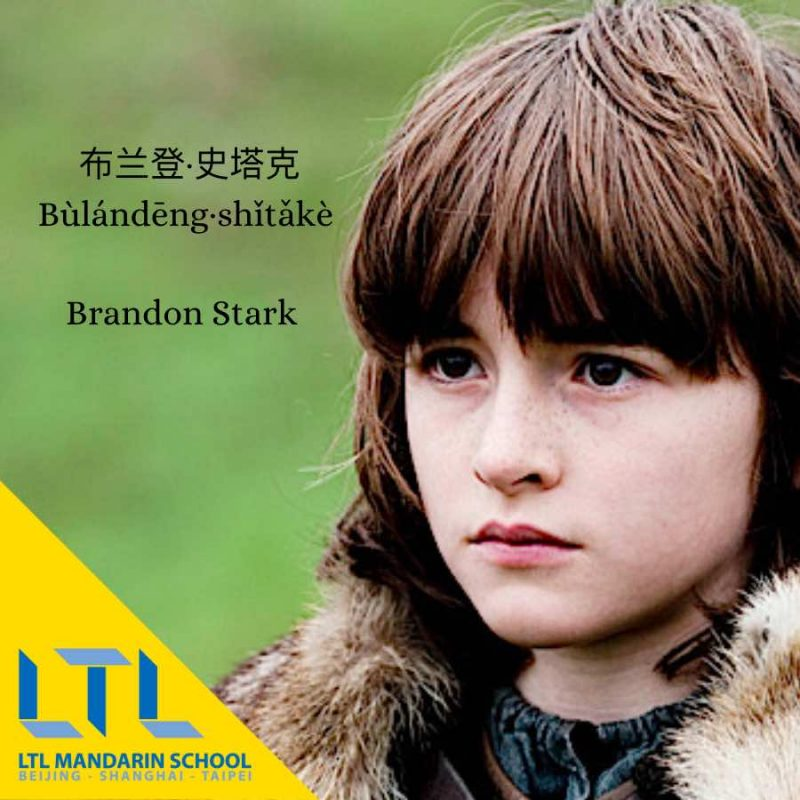 Game of Thrones Chinese: Brandon Stark
