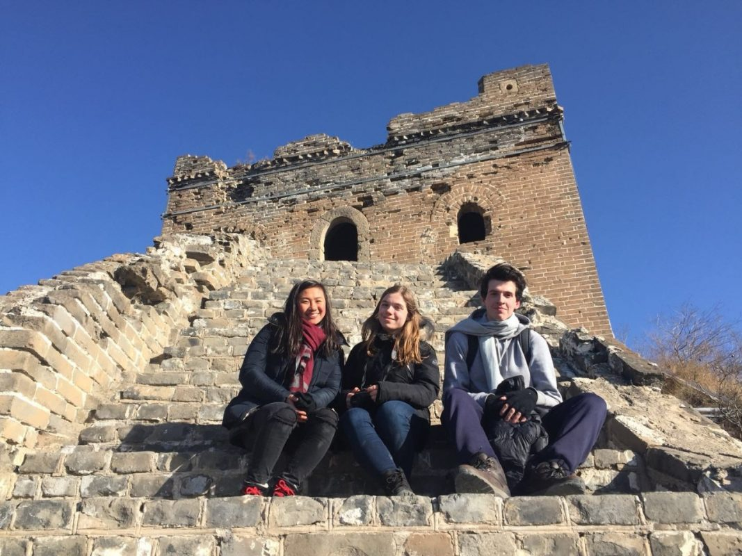 Jocelyn, Katrin and Nicolas at The Great Wall of China