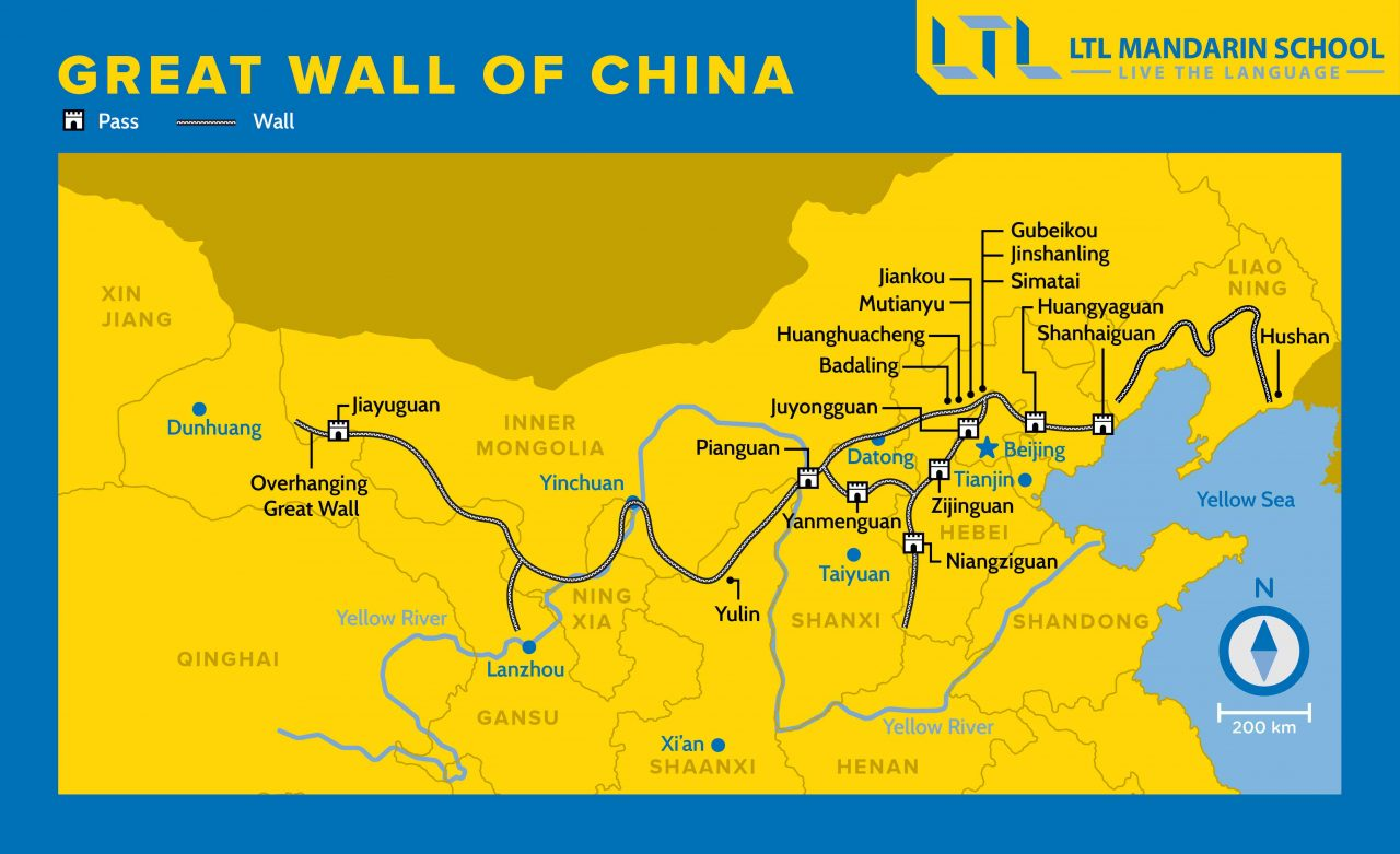 Map of the Great Wall