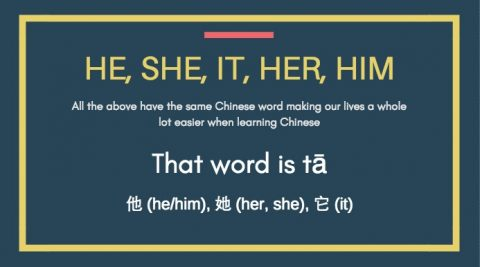 Learning Chinese with 他 tā